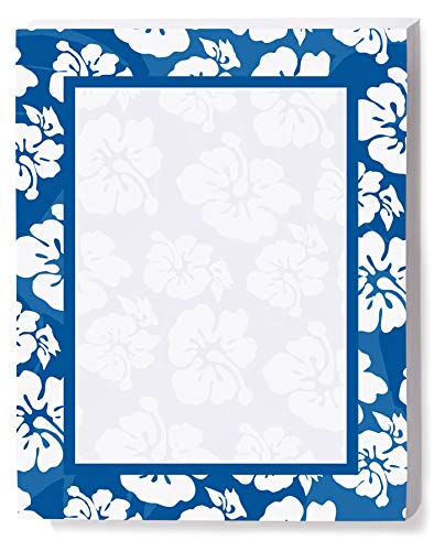 Blue Luau Border Papers, 8 1/2 x 11 Inches, 100 Count