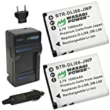 Wasabi Power Battery (2-Pack) and Charger for Sanyo DB-L80, DB-L80AU, VPC-CA100, VPC-CA102, VPC-CG10, VPC-CG100, VPC-CG102, VPC-CG20, VPC-CG21, VPC-CS1, VPC-GH1, VPC-GH2, VPC-GH3, VPC-GH4, VPC-PD1, VPC-PD2