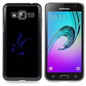"Qstar Arte & diseño plástico duro Fundas Cover Cubre Hard Case Cover para Samsung Galaxy J3(2016) J320F J320P J320M J320Y (Romance Glamour viejos Películas Hombre Mujer"")"