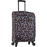 Ninewest Women's Packmeup 20' Expandable Spinner, Black Multi Floral Print