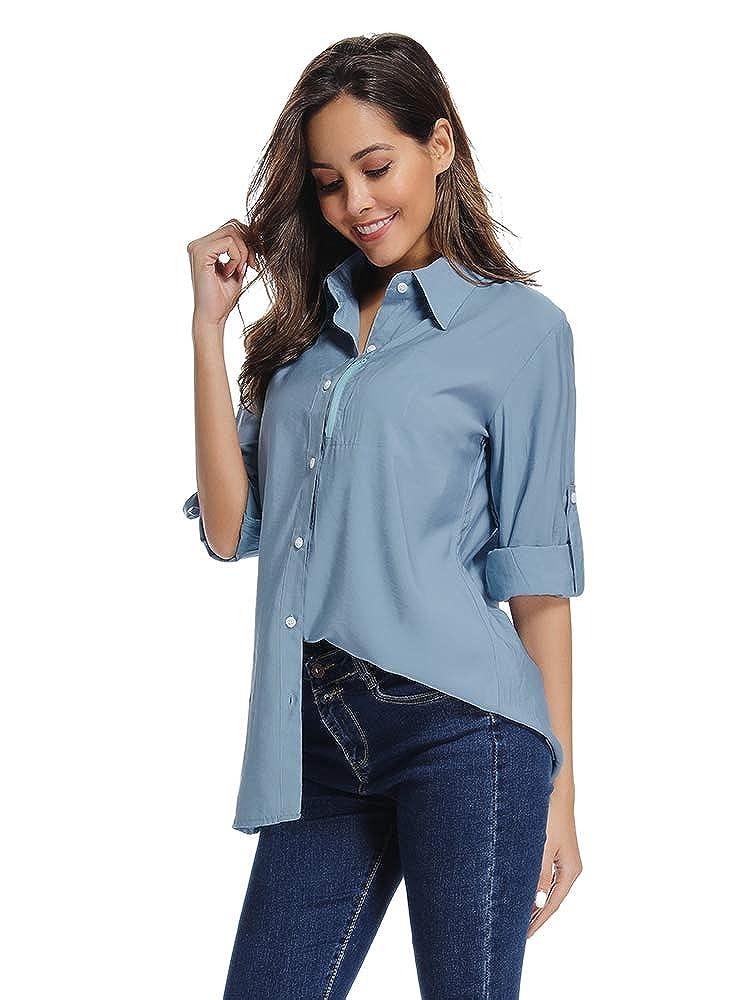 Moisture Wicking Fabric UV Sun Protection Womens PFG Long Sleeve Shirt