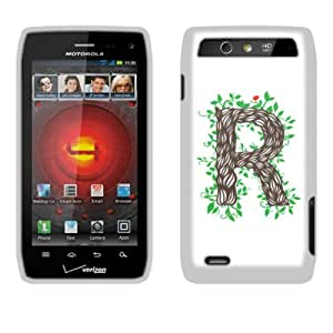 Fincibo (TM) Protector Cover Case Snap On Hard Plastic Front And Back For Motorola Droid 4 XT894 - R Character
