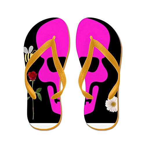 CafePress Abby Skull - Flip Flops, Funny Thong Sandals, Beach Sandals Orange
