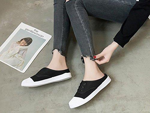 40 Textile Sport De Femmes Minimalisme Rojeam Chausson 36 Bas Noir Chaussures Casual Pour Sneaker xap6Fqfg