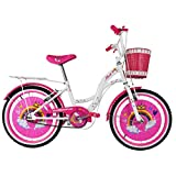"Bicicleta para Niña Modelo ""Shon"" con Canastilla Frontal y Portabultos, Rodada 20 1 Velocidad"