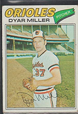 Amazoncom 1977 Topps Dyar Miller Orioles Baseball Card 77