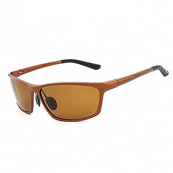 RFVBNM Gafas de sol polarizadas Hombres Película Vista Nocturna Pesca de Moda Gafas de Montar Gafas