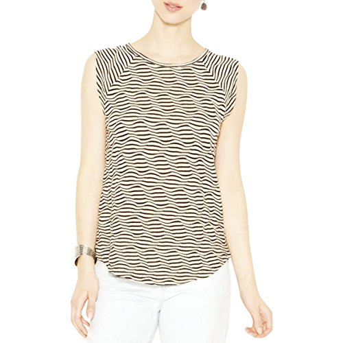 Lucky Brand Women's Striped Swit Tank, Black/Natural, X-Small