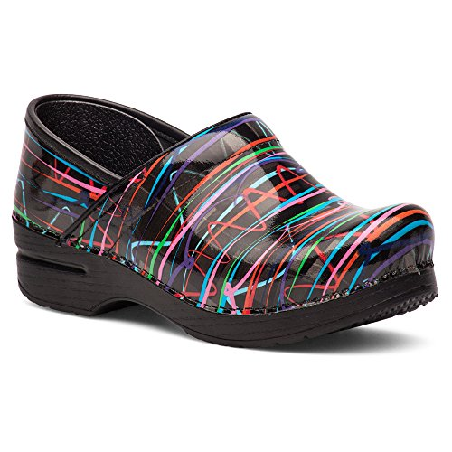 Dansko Women's Wide Pro Mule, Streamers Patent, 42 EU/11.5-12 W US by Dansko