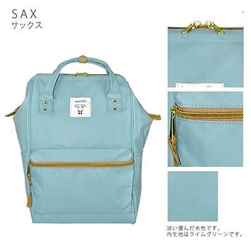 Japón Anello Original mochila mochila unisex lienzo calidad mochila escolar campus Sax: Amazon.es: Oficina y papelería