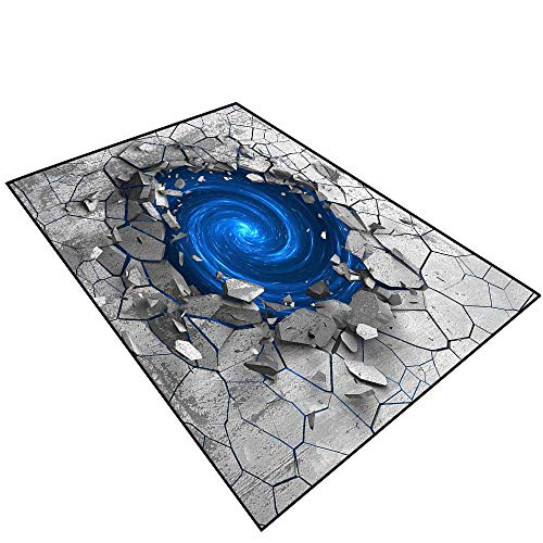 - Area Rug 3D Effect of The Trap Vortex.Dark Cracked Broken Hole in Concrete Wall.084 (3) Rubber Bathroom Rug Floor Mats