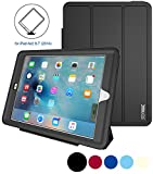 unlock ipad 3 - iPad Air 2 Case Heavy Duty Plastic+Soft TPU Full Body Shockproof, Smart Cover With Auto Sleep Wake Magnetic Synthetic Leather Stand Feature Case for iPad Air 2 (Black)