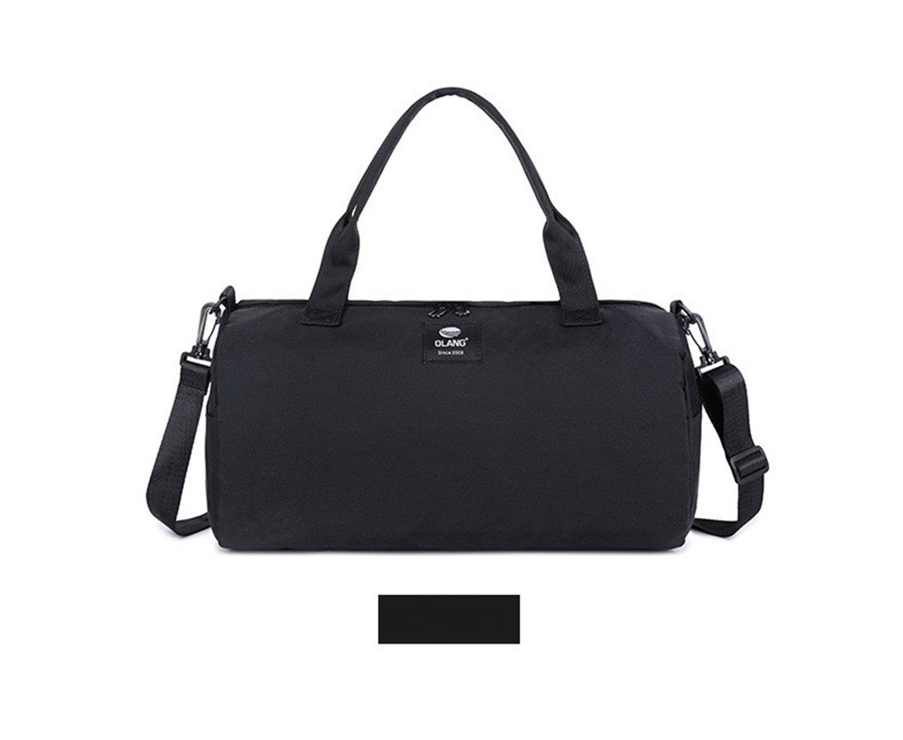 391d917261 Amazon.com  Breadaye Canvas Women s Travel Bags Yoga Gym Bag For Fitness  Shoes Handbags Shoulder Crossbody Pouch Women Men Sport Pack Black Color   Sports   ...