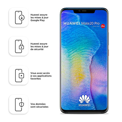 """HUAWEI Mate 20 Pro LYA-L29 (128GB, Dual-SIM, Android, 6.39"""" inch) (GSM Only, No CDMA) Factory Unlocked 4G/LTE Smartphone (Twilight)"""
