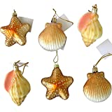 Beachcombers SS-BCS-04208 Blown Glass Shell Ornament