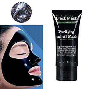 Shouhengda Blackhead Remover Skin Care Cream Deep Clean Purifying Peel Black Mud Face Mask