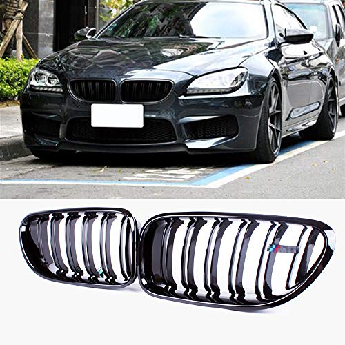 (Fandixin F06 Grille, ABS Front Kidney Grill for BMW 6 Series F06 F12 F13 Gloss Black)