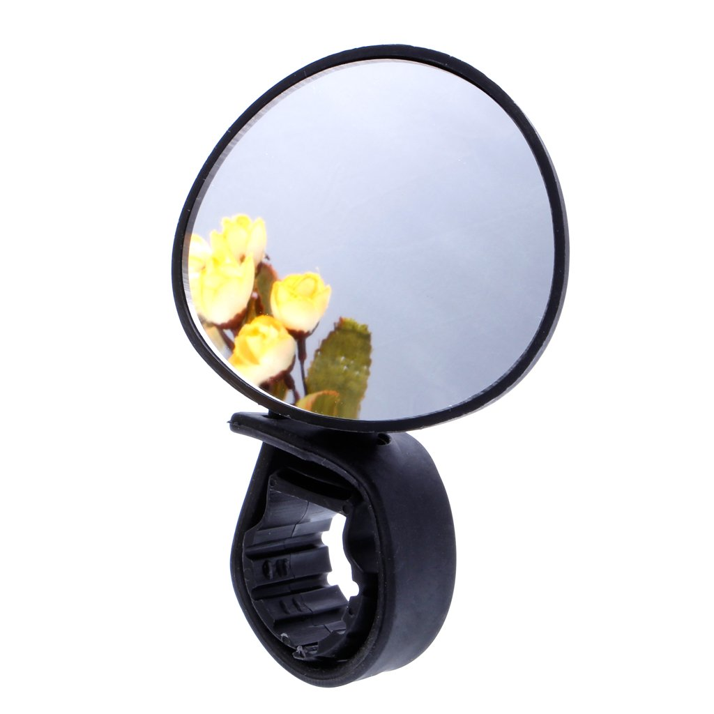 HNDHUI 1 Piece Universal 360 Degree Rotate Rear View Handlebar Glass Mirror For Bike Bicycle Cycling