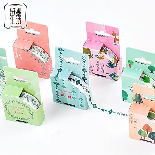JSGDJD Cinta Adhesiva 12 pcs/Pack Hojas de árboles forestales Planta Washi Tape DIY Scrapbooking Etiqueta Adhesiva Cinta de enmascarar la Escuela Don Suministros de Oficina Papelería - 12 pcs/Pack: Amazon.es: Hogar