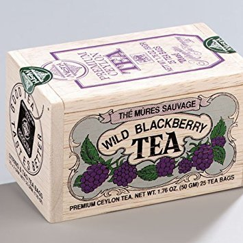 Wild Blackberry Tea 25 Tea Bags in Wooden Mini Crate