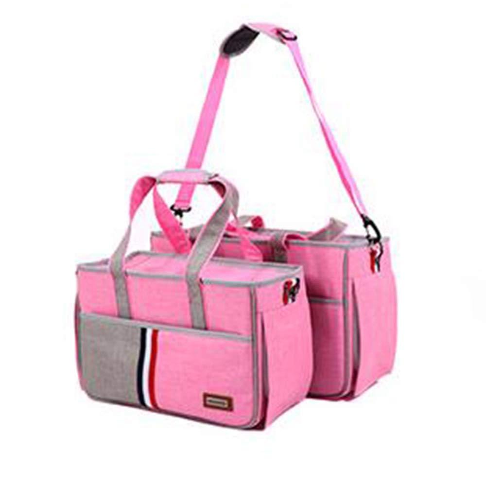 Pink US 10HEJUNF CA Out Pocket Small pet Bag cat Bag Multi pet Backpack (color   Dark bluee, Size   US 10)