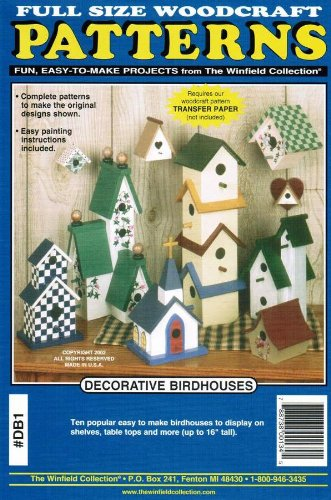 Amazon Com Decorative Birdhouses Woodcraft Woodworking Plans Arts