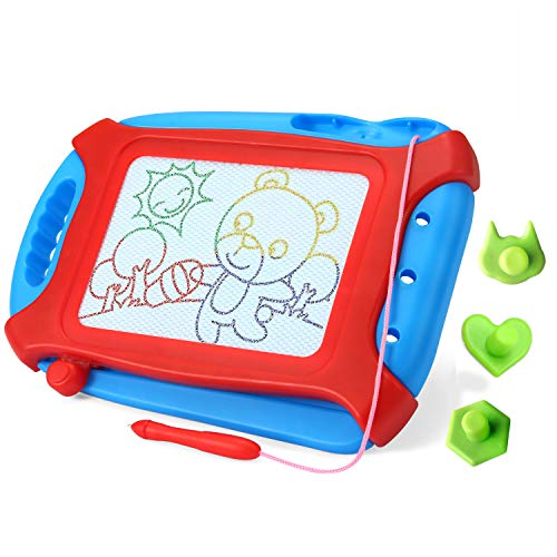 VUSUMOK Magnetic Drawing Board, Non-Toxic Magnetic Doodle Board Erasable Magna Toddler Toy Writing Painting Sketching Pad Kids Development (Travel Size)