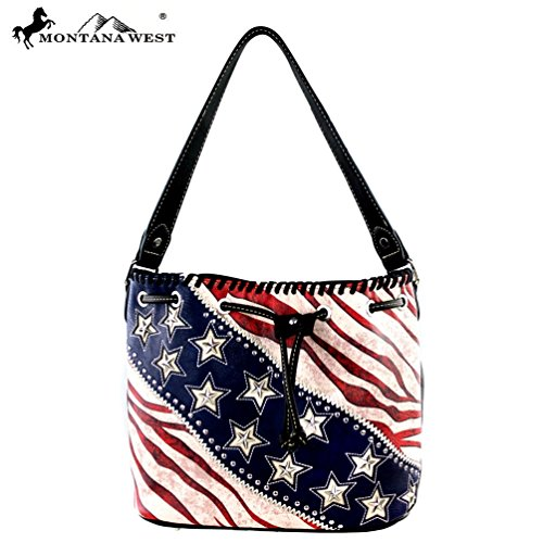 Montana West American Pride Collection Hobo Bag US12-8109 - West American Hobo Bag