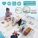 Baby Play mat, playmat,Baby mat Folding Extra Large Thick Foam Crawling playmats Reversible Waterproof Portable playmat for Babies (Bear)