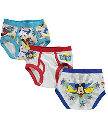Mickey Mouse Toddler Boys' Briefs - 3 Pack