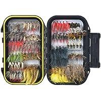 FISHINGSIR Fly Fishing Flies Kit- 64/100/120pcs Handmade...