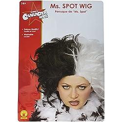 Rubie's Costume Ms. Spot Wig, Black/White, One Size