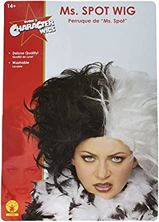Rubie's Ms. Spot Wig, Black/White, One Size