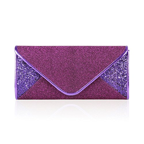Paillette Cocktail Damara Snap Handbag Damara Women Elegant Women Glitter Purple wqX7Zx0qf
