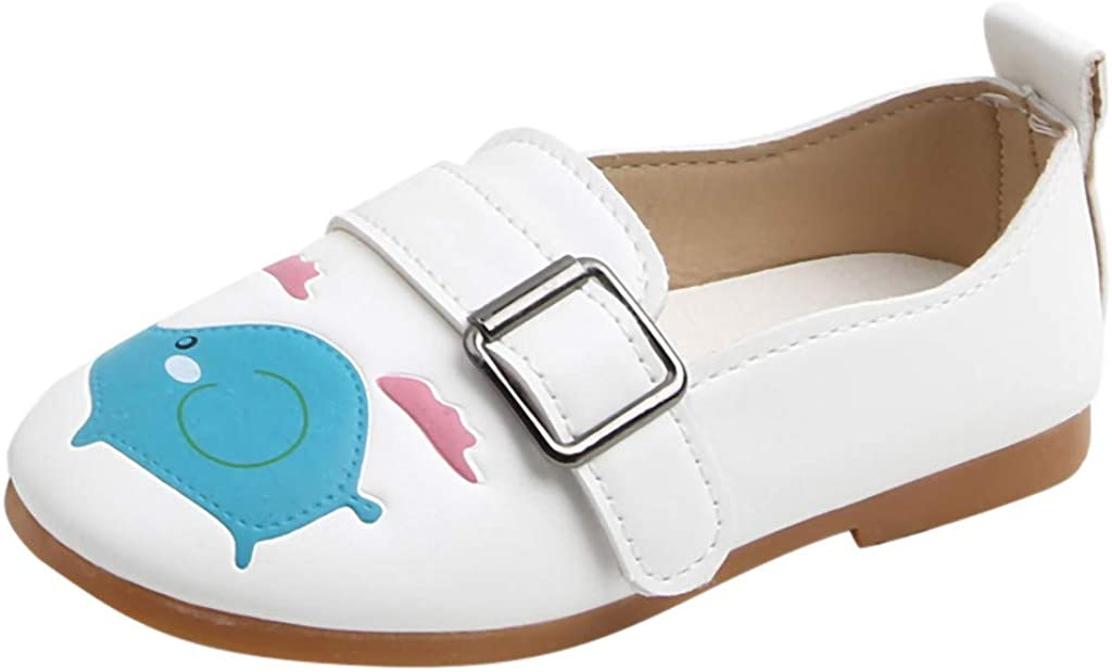 TIANRUN Toddler Kids Baby Girls Boys Cartoon Animals White Casual Shoes Lightweight Sandals Sneakers