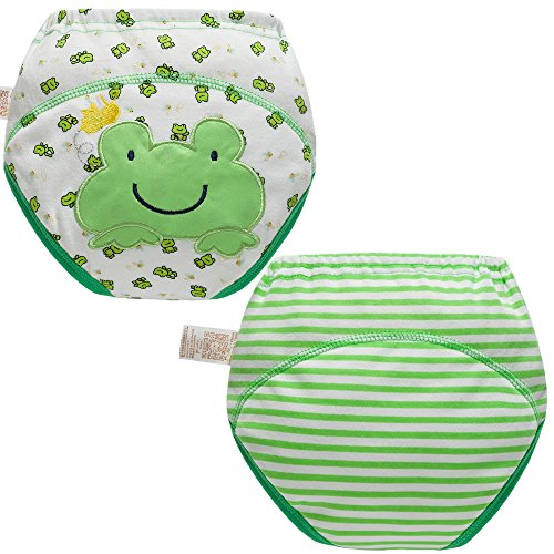 Happy Heinys Training Pants - Skhls Baby Toddler 4 Layer Assortment Cotton Training Pants 2 Pack£¬Frog 3T