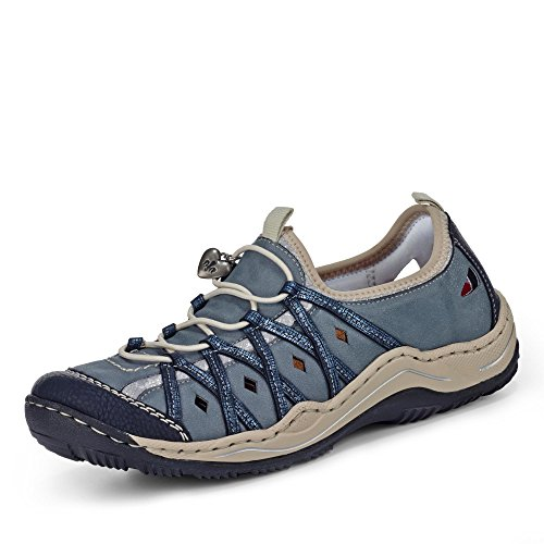 14 Silverflower Rieker L0559 Damen Royal Pazifik Sneakers Adria qvfawFq