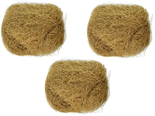 (3 Pack) Prevue Pet Products Sterilized Natural Coconut Fiber for Bird Nest (Prevue Nest)