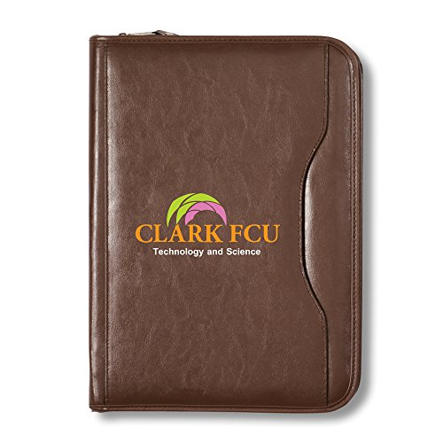 Deluxe Executive Vintage Leather Padfolio - 13 Quantity - $26.40 Each - BRANDED / SCREEN PRINTED with YOUR LOGO / CUSTOMIZED by Sunrise Identity