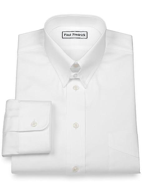 Amazon.com: Paul Fredrick Pinpoint - Camisa de vestir para ...