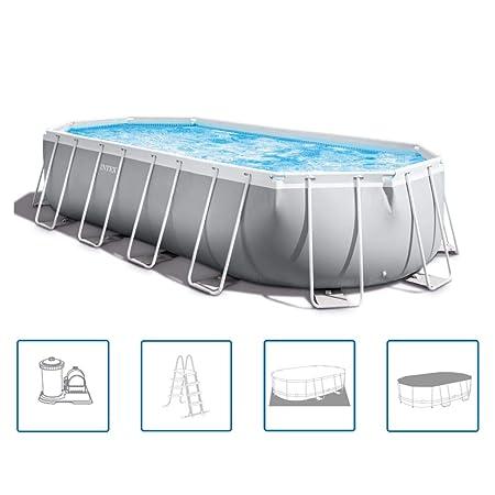 Intex 26798GN Prism Frame - Juego de piscina (610 x 305 x 122 cm ...