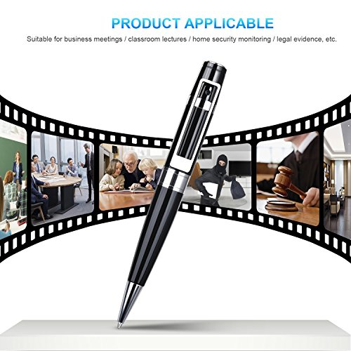 Spy Camera Pen Hidden Camera Meeting Video Recorder HD 1080P Mini Portable DVR Cam Built-in 16GB Micro SD Card + 2 Ink Fills by GooSpy (Image #4)
