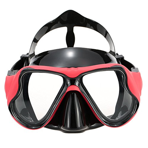 Professional Tempered Glass Silicone Scuba Diving Mask Scuba Gear Equipment Goggles For Adult Snorkeling Swimming