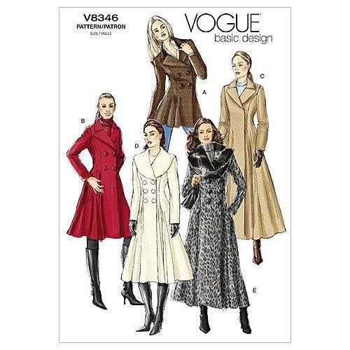 Vogue Patterns V8346 Misses' Coat, Size D (12-14-16) from Vogue Patterns