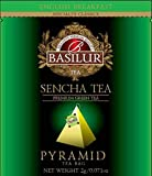 Basilur, Sencha Green Tea, Pure Ceylon Green Tea, Pyramid Tea Bags, Biodegradable Luxury Tea bags for Hotels, Restaurants, Cafes and Tea lovers, Ultra-Premium Tea Sachets in Box, 50 Piece Review