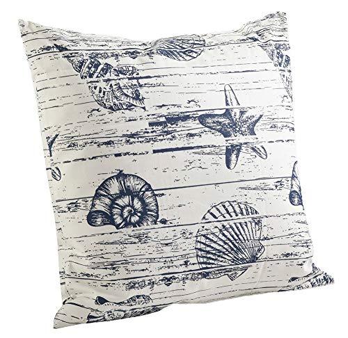 Fennco Styles 18 Captiva Island Nautical Down Filled Decorative Throw Pillow, Indigo