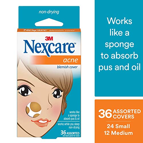 Nexcare Acne Cover, Invisible, Hydrocolloid Technology, Drug-Free, Absorbing, 36 count