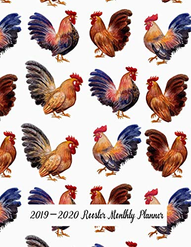 2019-2020 Rooster Monthly Planner: 24 Months Pretty Simple Monthly Planner Calendar - Get Organized. Get Focused. Take Action Today and Achieve Your - Rooster 24