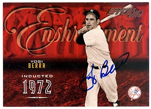Yogi Berra Autographed Signed 2003 Donruss Studio Card #108/750 126159 - Steiner Sports Certified - Baseball Slabbed Autographed Cards