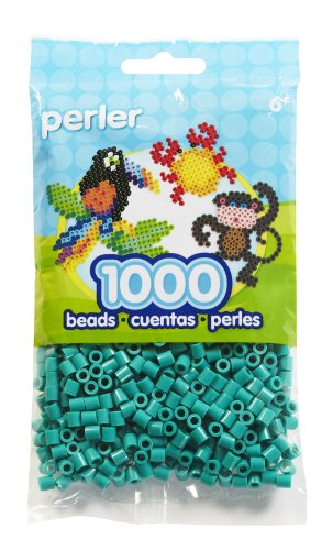 - Perler Beads Fuse Beads for Crafts, 1000pcs, Parrot Green